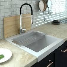 poser cuisine evier de cuisine blanc evier a poser en granit blanc ka 1 4 mbad