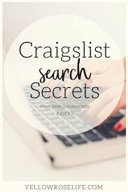 Craigslist Search Secrets! · Yellow Rose Life