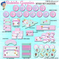 Bubble Guppies Cake Toppers by Bubble Guppies Party Printable Collection Mimi U0027s Dollhouse