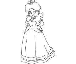 Princess Peach Coloring Pages Printable For Kids