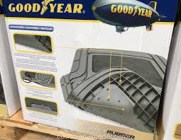 Sams Club Floor Mats For Cars by Goodyear Carpet Rubber Floor Mats 4 Piece Costco Weekender