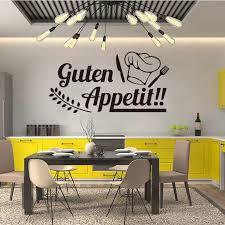 vinyl wand aufkleber decals guten appetit abnehmbare kunst tapete für küche esszimmer hause dekor haus dekoration de001