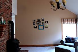 Minecraft Living Room Decorations by Awesome Decorate A Large Living Room Wall With Blue Paint Attached