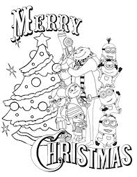 Despicable Me Christmas Coloring Page