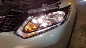 2014 2018 nissan rogue testing headlights after changing burnt