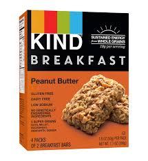 KIND Breakfast Bars 4 ct Peanut Butter Bars Gluten Free