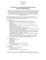 Retail Sales Experience Resume Inspirationa Sample Rh Nyustraus Org For Job With No