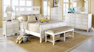 Rooms To Go Queen Bedroom Sets by Cindy Crawford Home Seaside White 5 Pc Queen Panel Bedroom