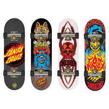 Tech Deck Finger Skateboard Tricks by Tech Deck 4 Pack Fingerboards Santa Cruz Toys