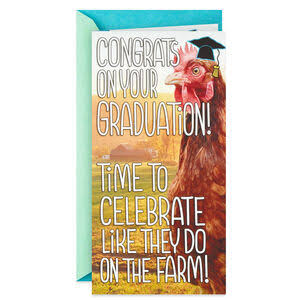Buck Buck Chicken Funny Pop Up Money Holder Graduation Card