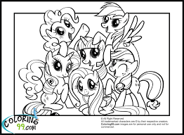 Sumptuous Design Ideas My Little Pony Printable Pictures Mlp Coloring Pages