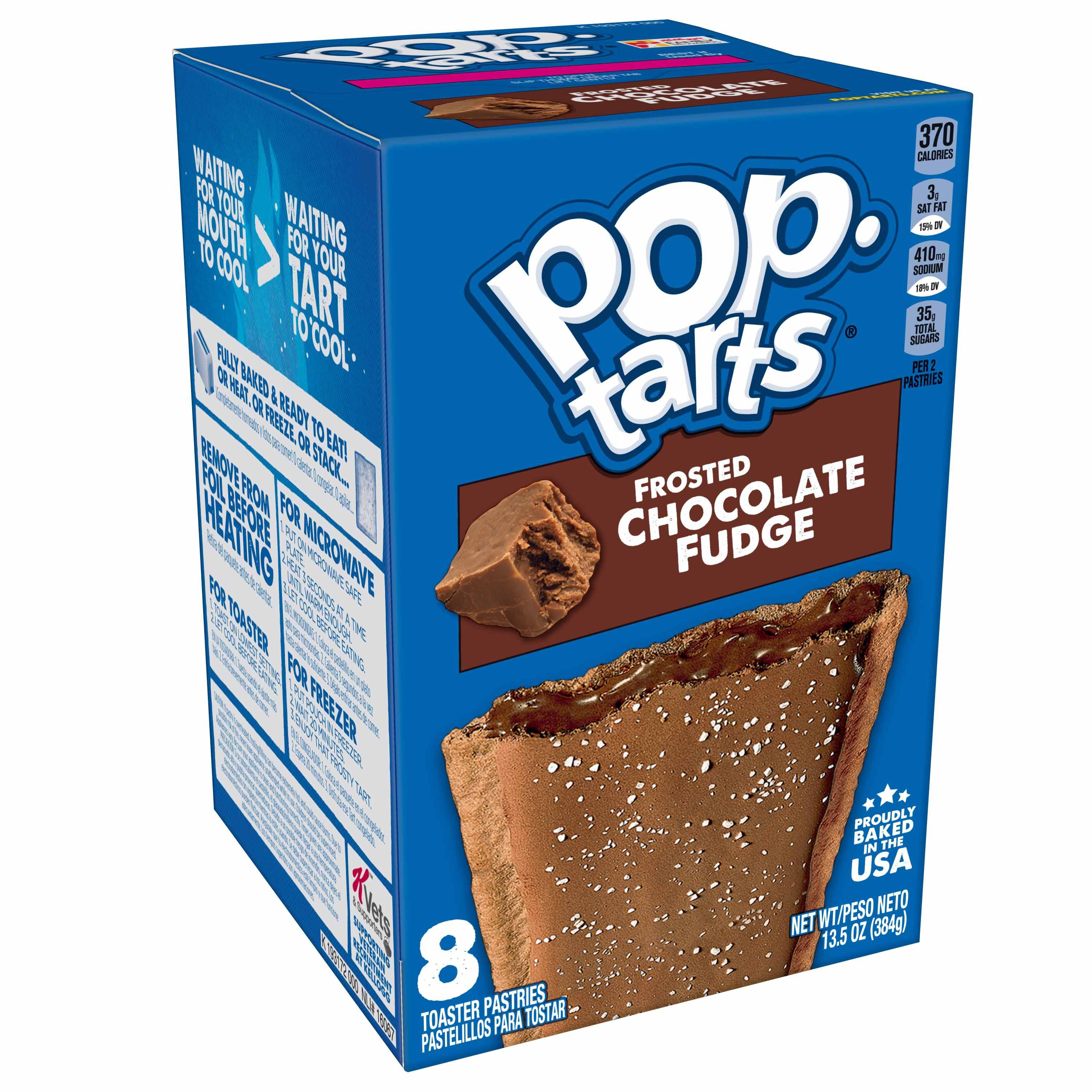 Pop Tarts Toaster Pastries, Frosted Chocolate Fudge - 8 pack, 13.5 oz pastries