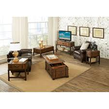 Value City Furniture Kitchen Chairs by Riverside Latitudes Suitcase Chair Side Table Aged Cognac Wood