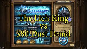 r druid deck kft hearthstone the lich king with a 380 dust druid deck