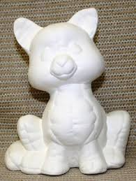 Ceramic Bisque Pillow Cat Kimple Mold 816 U paint Ready to Paint