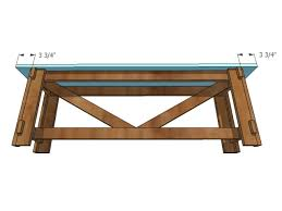 Illustration Of Attaching Bench Seat To DIY