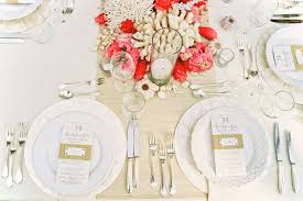Coral Colored Decorative Items by Wedding Ideas Tropical Décor Concepts For Your Wedding Inside