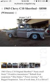 100 Phoenix Craigslist Cars And Trucks Pin By William Morris On OLD TRUCKS 1965 Chevy C10 Chevy
