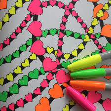 Neon Sharpie Markers For Your Adult Coloring Book Pages