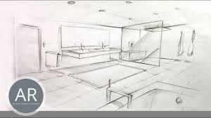 bäder in 2 punkt perspektive zeichnen bad design skizzen bad zeichnungen perspektivisch zeichnen