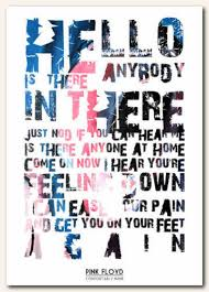 Pink Floyd fortably Numb Lyric Poster Typography Art