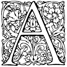 Letter A Printable Detailed