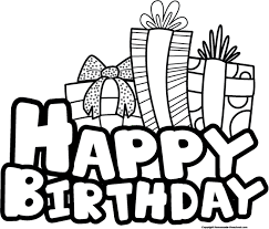 Happy Birthday Clipart Black And White clipartsgram