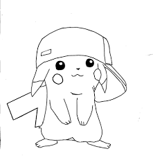 Pokemon Coloring Pages Pikachu Free Printable For Kids Online