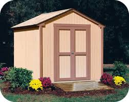 handy home kingston 8x8 wood storage shed kit w floor 18276 1