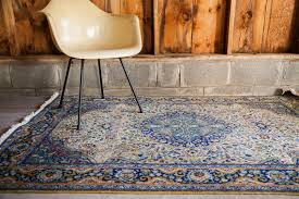 Popular of Vintage Area Rugs Marked Down 1960s Blue And Yellow