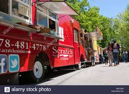 100 Food Trucks In Atlanta People Walk Among 30 Food Trucks Lined Up In Grant Park At The
