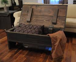 Furniture Dark Brown Rectangle Reclaimed Wood Rustic Storage Coffee Table Ideas To Complete Living Room