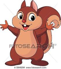Clipart Squirrel cartoon waving hand Fotosearch Search Clip Art Illustration Murals