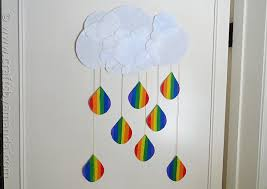 Rainbow Crafts For Kids Cloud With Raindrops By Amanda