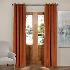 Burgundy Grommet Blackout Curtains by Exclusive Fabrics U0026 Furnishings Blackout Signature Rusty Gate