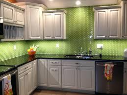 multi colored subway tile backsplash lime green glass subway tile