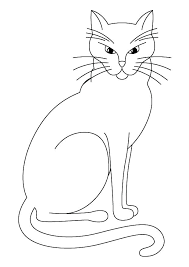 Cute Kitty Cat Coloring Pages Page And Kitten