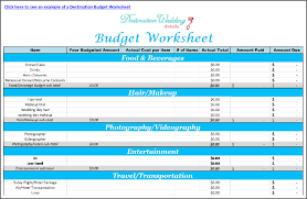 Free Easy Destination Wedding Spreadsheets