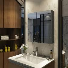 bad spiegel schrank 60cm badezimmer hängeschrank bad grau