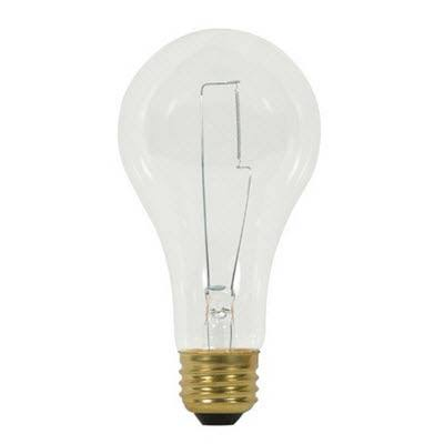 Satco S3958 200 Watt 2900 Lumens A23 Clear Incandescent Light Bulb