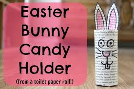 Easter Bunny Candy Holder From A Toilet Paper Roll