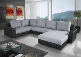 details zu couchgarnitur grado mit schlaffunktion otto rechts schwarz hellgrau