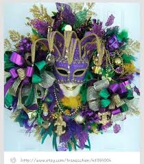 Mardi Gras Mask Door Decoration by 123 Best Mardi Gras Wreaths Images On Pinterest Mardi Gras