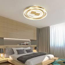 led deckenleuchte modern kreis design in gold für schlafzimmer