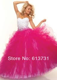 dazzling beading pink quinceanera dresses ball gown with