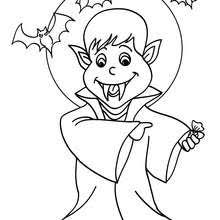 Vampire Under The Moonlight Coloring Page