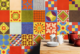 talavera vinyl tile decals of mexican talavera tile washable and