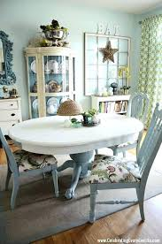 Color Dining Room Sets Chalk Painted Table And Chairs Makeover With Paint Old White Ideas For