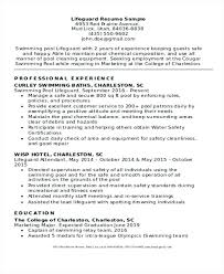 Resume Examples Lifeguard Experience Feat Experienced For Frame Astounding Objective Customer Service 889