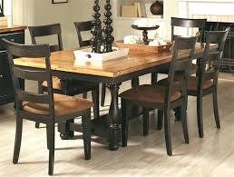 Two Tone Dining Set Chairs 5 Piece Table In Rustic Amber